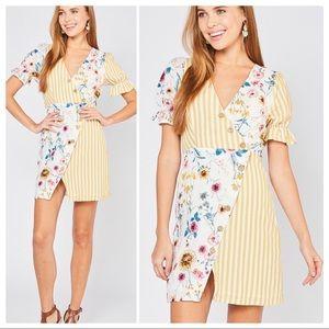 Entro Summer Days Contrast Print Mini Dress